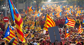Rally demanding independence for Catalonia Royalty Free Stock Images