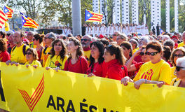 Rally demanding independence for Catalonia Royalty Free Stock Photography