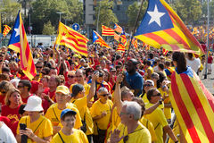 Rally demanding independence for Catalonia Stock Photography