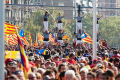 Rally demanding independence for Catalonia Royalty Free Stock Photo