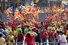 Rally demanding independence for Catalonia Stock Image
