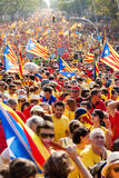 Rally demanding independence for Catalonia Stock Images