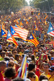 Rally demanding independence for Catalonia Stock Photo