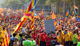Rally demanding independence for Catalonia Royalty Free Stock Photos