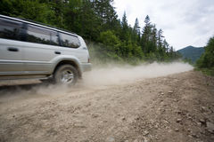 Rally on a dirt road. Stock Photos