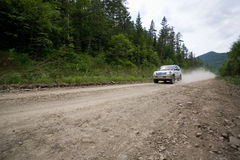 Rally on a dirt road. Stock Image