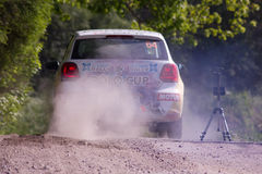 Rally on a dirt road Royalty Free Stock Image