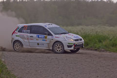 Rally on a dirt road royalty free stock photography