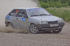 Rally on a dirt road Stock Images