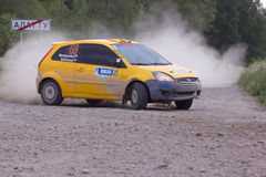 Rally on a dirt road royalty free stock photo
