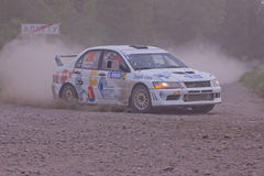 Rally on a dirt road royalty free stock photos