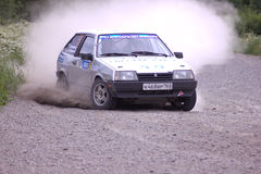 Rally on a dirt road Stock Photo