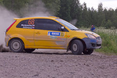 Rally on a dirt road Royalty Free Stock Images