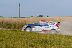 Rally driver race in 71st Rally Poland Royalty Free Stock Photo