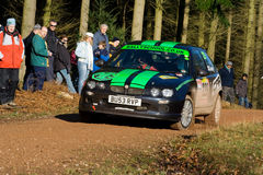 Rally driving Royalty Free Stock Photos