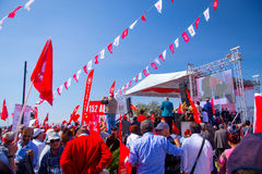 Rally, 2015 elections, turkey Royalty Free Stock Images
