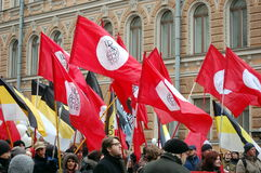 Rally for Fair elections in Russia Royalty Free Stock Image