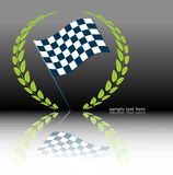 Rally flag. Vector race flag, with space for text insertion. Additional format uploaded Royalty Free Stock Images