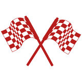 Rally flags isolated icon Stock Photos