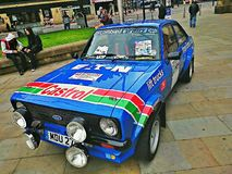 Rally ford escort Royalty Free Stock Images