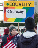 Marriage Rally At US Supreme Court Royalty Free Stock Photography