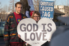 Marriage Rally At US Supreme Court Royalty Free Stock Image
