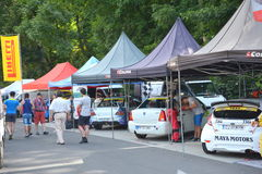 Rally. Grand Prix of Brasov City Royalty Free Stock Photos