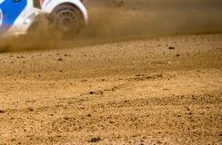 Rally Ground and wheel Royalty Free Stock Photos