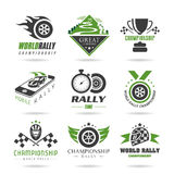 Rally icon set, sports icons - 32. Rally quality set of icons that can be used in studies concerning Stock Images