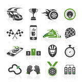 Rally icon set, sports icons Royalty Free Stock Photography