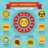Rally infographic concept, flat style Stock Images