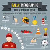 Rally infographic, flat style Royalty Free Stock Photography