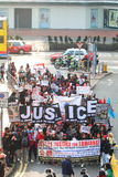 Rally for Justice for Erwiana in Hong Kong Stock Image