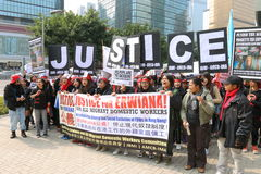 Rally for Justice for Erwiana in Hong Kong Royalty Free Stock Photo