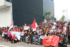 Rally for Justice for Erwiana in Hong Kong Stock Photos