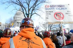 Rally in Madison Wisconsin Stock Photos