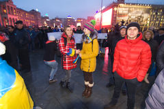 Rally on the Maidan for EU Royalty Free Stock Image