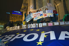 Rally on the Maidan for EU Stock Photos