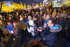 Rally on the Maidan for EU Stock Images