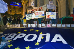 Rally on the Maidan for EU Royalty Free Stock Images