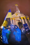 Rally on the Maidan for EU Royalty Free Stock Photography