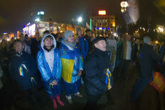Rally on the Maidan for EU Stock Photo