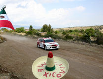 Rally Mexico WRC 2004 stock photography