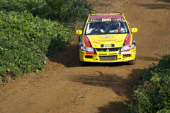 Rally motorcar racing Stock Images