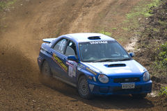 Rally motorcar racing Royalty Free Stock Images