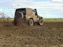Rally in mud. Troller on rally in the 11ª travessia do TAIM, Brazil, Santa Vitoria do Palmar Stock Images