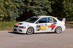 Rally - Old capitals. The rally takes place from 42 years in the town of Shumen and the region. Pictured is a car № 5 - Ivan Marinov and Dimitar Filipov from Royalty Free Stock Image