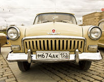 Rally of old cars, Moscow Stock Photos