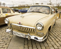 Rally of old cars in Moscow Stock Photography