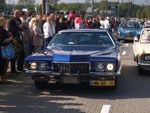 Rally of old cars. V Rally Old Samochodówr, Myslowice September 2014. The picture shows a car blue color :Cadillac Eldorado Stock Image